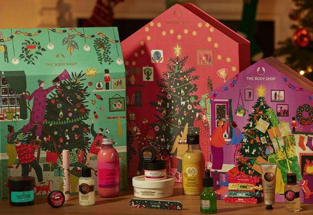Countdown to Christmas with these gorgeous Body Shop advent calendars