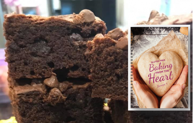 Gluten free fudgy brownies recipe from new book 'Baking from the Heart'