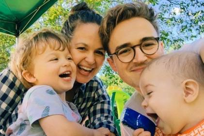 Giovanna Fletcher says goodbye to her kids as she enters Im A Celeb