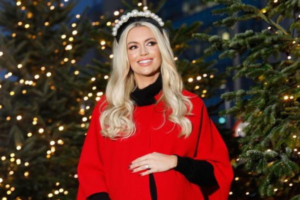 Rosanna Davison shows off her growing bump weeks before her miracle twins' due date