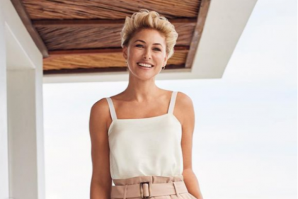 'Little style icon': Emma Willis defends her son's dress sense after rude comments