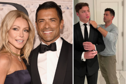 Mark Consuelos & Kelly Rippa's son goes to Prom wearing his father's suit