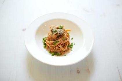 Creamy and spicy: Red pepper and lemon pasta