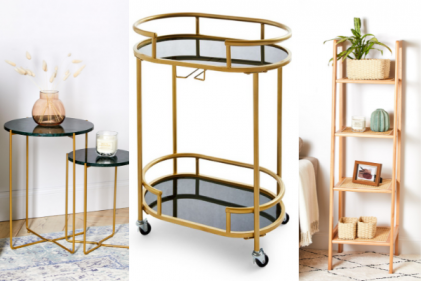 Primark are bringing back the gold bar cart along with loads of chic furniture