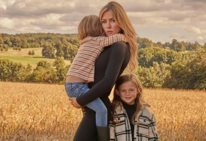 Abbey Clancy & her kids model Tescos F&F Autumn Winter collection
